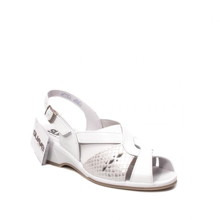 Sandale dama casual, piele naturala, SU0264P ROMA 13-N 0
