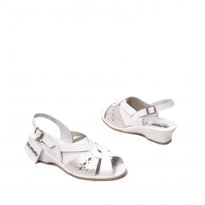 Sandale dama casual, piele naturala, SU0264P ROMA 13-N 2