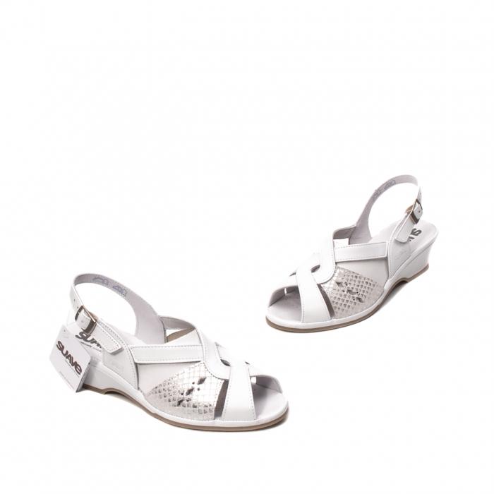 Sandale dama casual, piele naturala, SU0264P ROMA 13-N 1