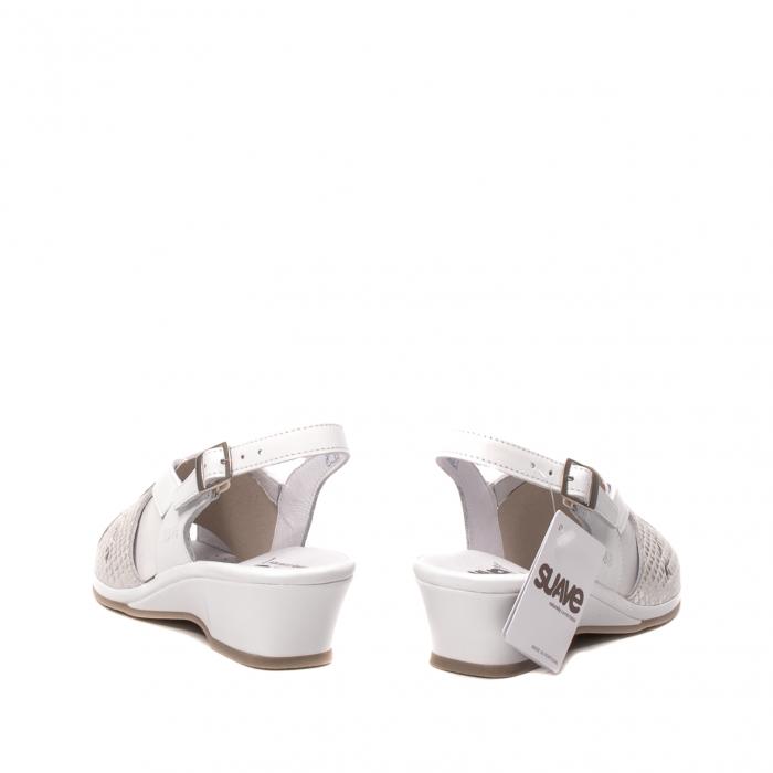 Sandale dama casual, piele naturala, SU0264P ROMA 13-N 6
