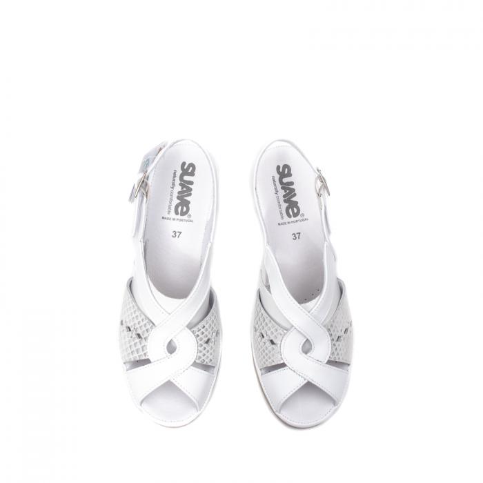 Sandale dama casual, piele naturala, SU0264P ROMA 13-N 5