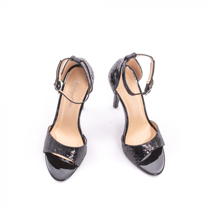 Sandale dama elegante Angel Blue 646, piele eco, negru 2