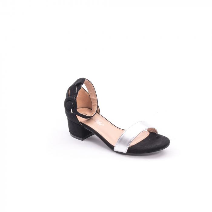 Sanda eleganta 649 negru cu argintiu. 1