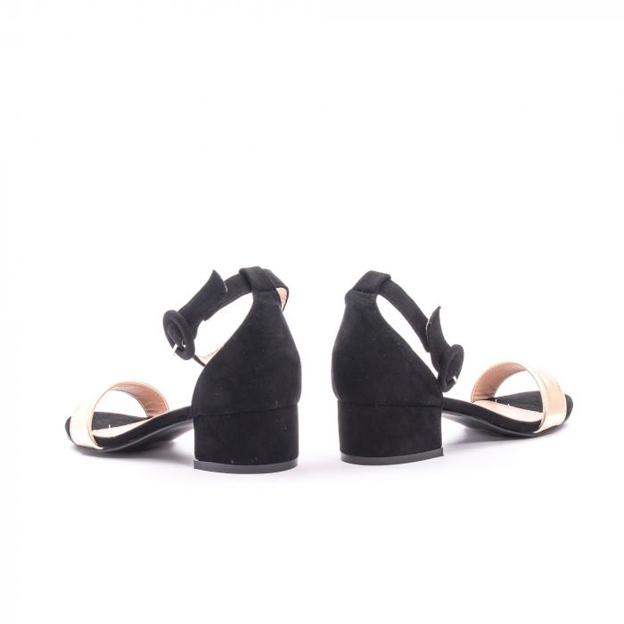 Sanda eleganta 649 negru cu auriu 5