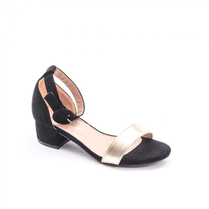 Sanda eleganta 649 negru cu auriu 1