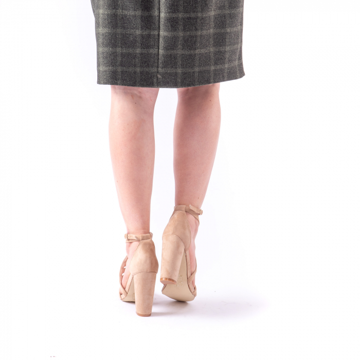 Sandale dama elegante piele ecologica Angel Blue 663, nude 5