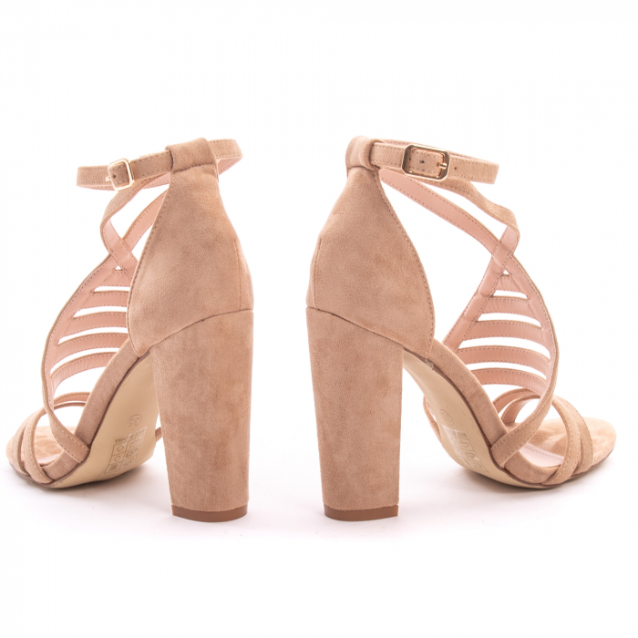 Sandale dama elegante piele ecologica Angel Blue 663, nude 4