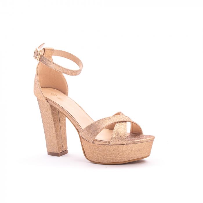 Sandale elegante dama cu platforma AB734 auriu [0]