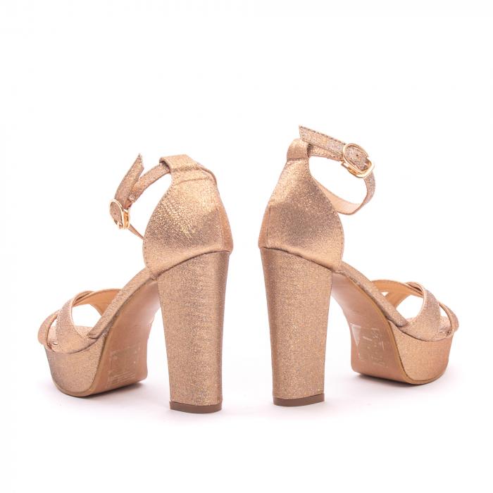 Sandale elegante dama cu platforma AB734 auriu [2]