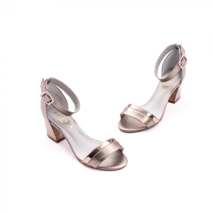 Sandale dama elegante piele naturala Epica oe8650 17-E, bronz 1
