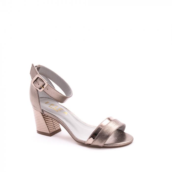 Sandale dama elegante piele naturala Epica oe8650 17-E, bronz 0