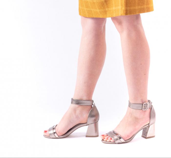 Sandale dama elegante piele naturala Epica oe8650 17-E, bronz 4