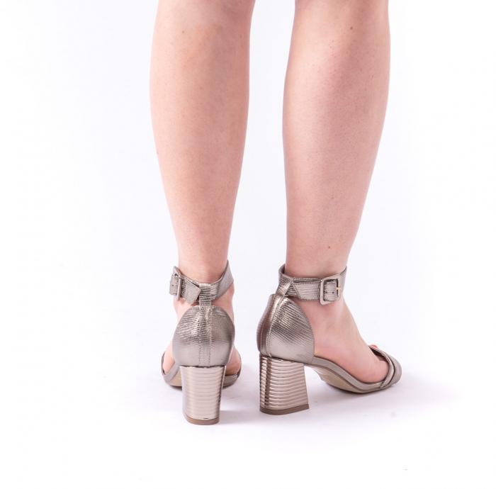 Sandale dama elegante piele naturala Epica oe8650 17-E, bronz 5