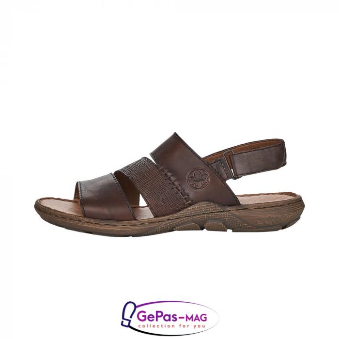 Sandale barbati, piele naturala, maro, 22079-25 4