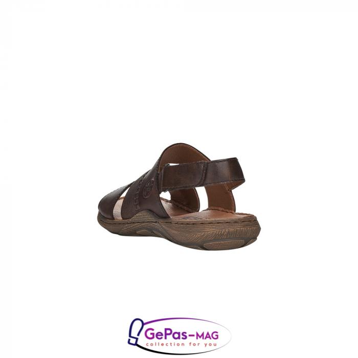 Sandale barbati, piele naturala, maro, 22079-25 3
