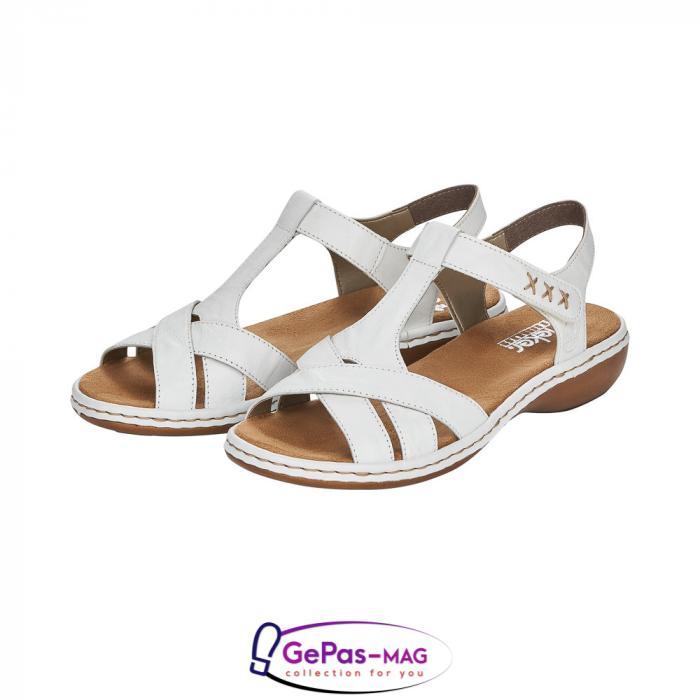 Sandale dama casual, piele naturala, 65919-80 6