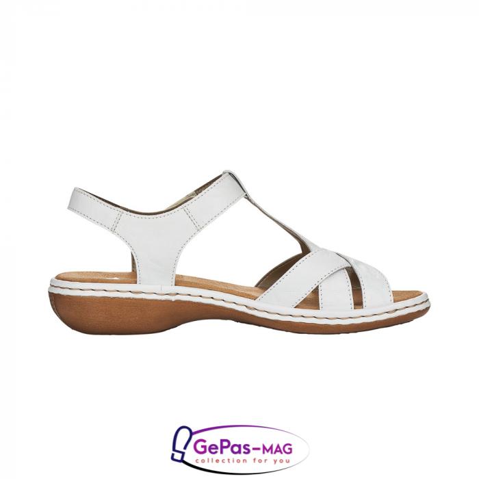 Sandale dama casual, piele naturala, 65919-80 [5]