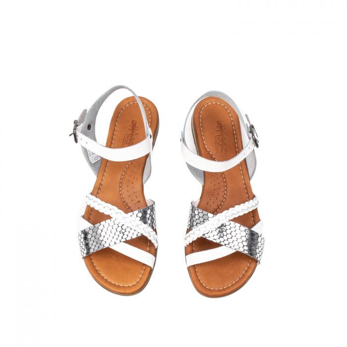 Sandale dama casual, piele naturala, E51500 J9-N 5