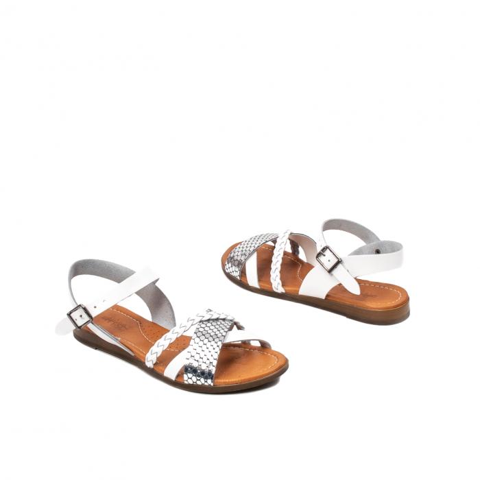 Sandale dama casual, piele naturala, E51500 J9-N 2