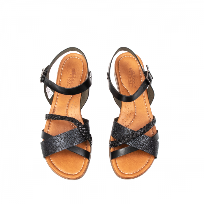 Sandale dama casual, piele naturala, E51500 L2-N 5