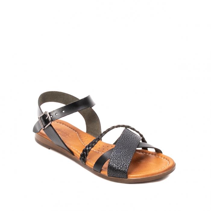 Sandale dama casual, piele naturala, E51500 L2-N 0