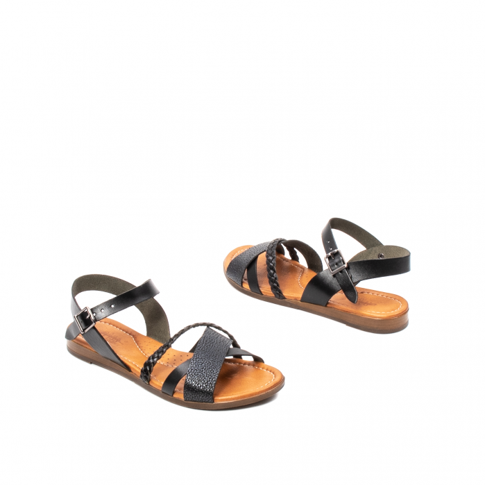 Sandale dama casual, piele naturala, E51500 L2-N 2