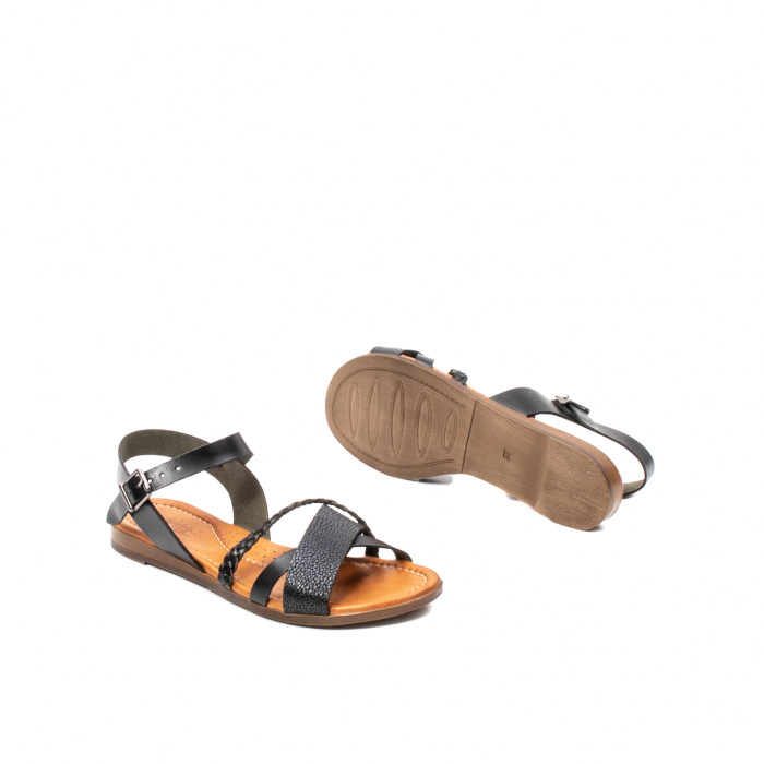 Sandale dama casual, piele naturala, E51500 L2-N 3