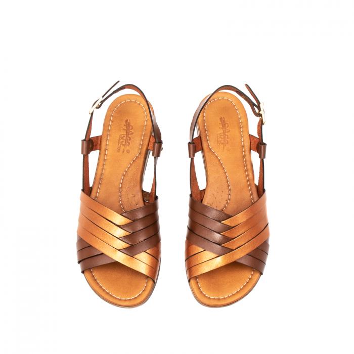 Sandale dama casual, piele naturala, E51503 02-N 5