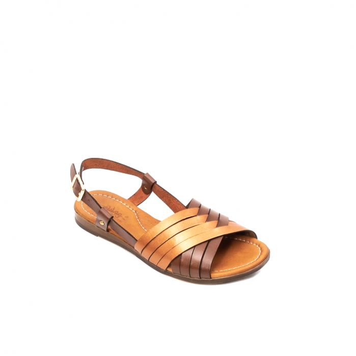 Sandale dama casual, piele naturala, E51503 02-N 0