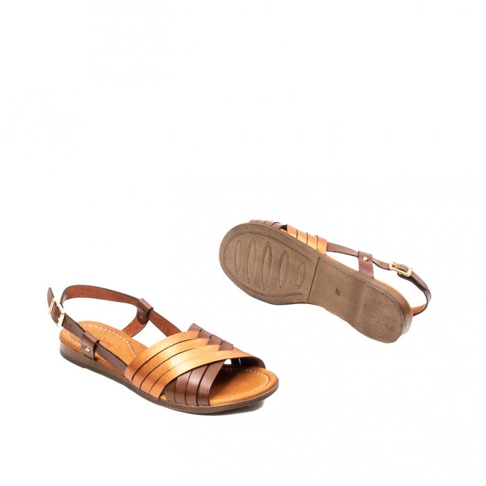 Sandale dama casual, piele naturala, E51503 02-N 3