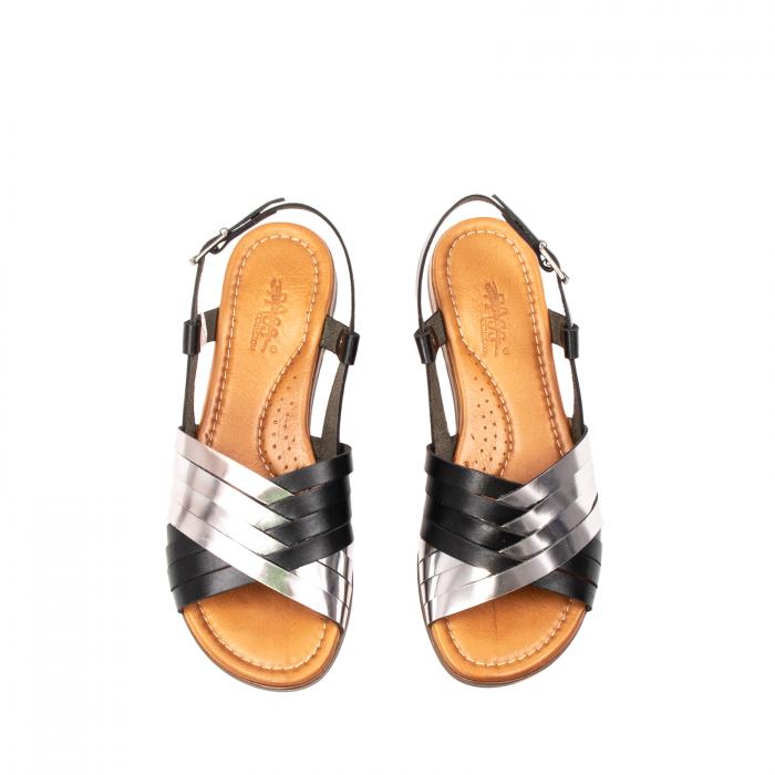 Sandale dama casual, piele naturala, E51503 L2-N 5