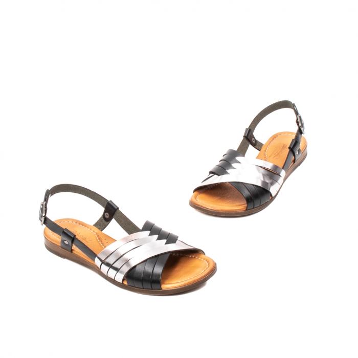 Sandale dama casual, piele naturala, E51503 L2-N 1