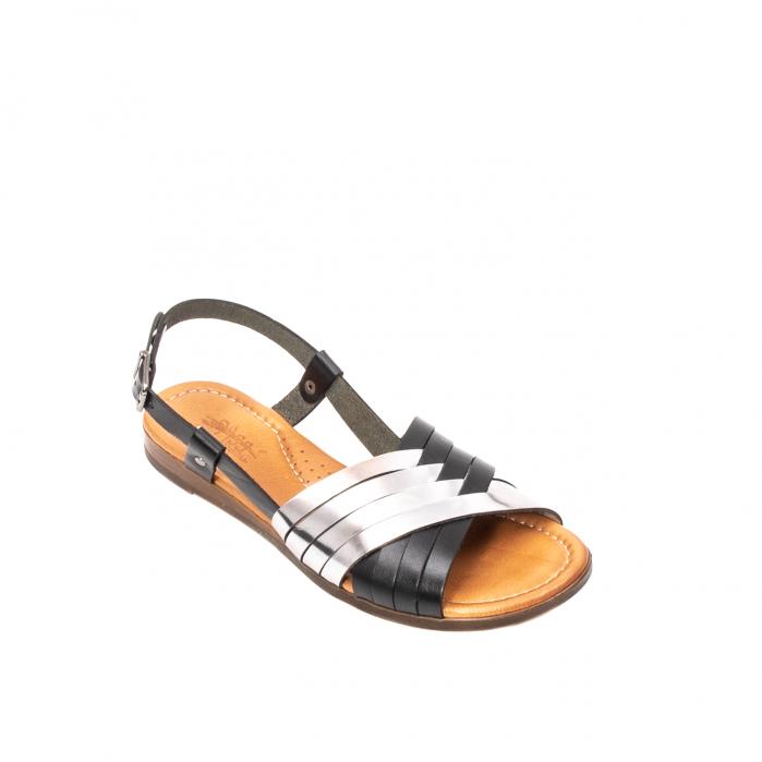 Sandale dama casual, piele naturala, E51503 L2-N 0