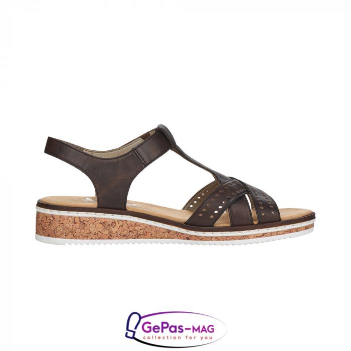 Sandale casual dama, piele naturala, V3677-25 4