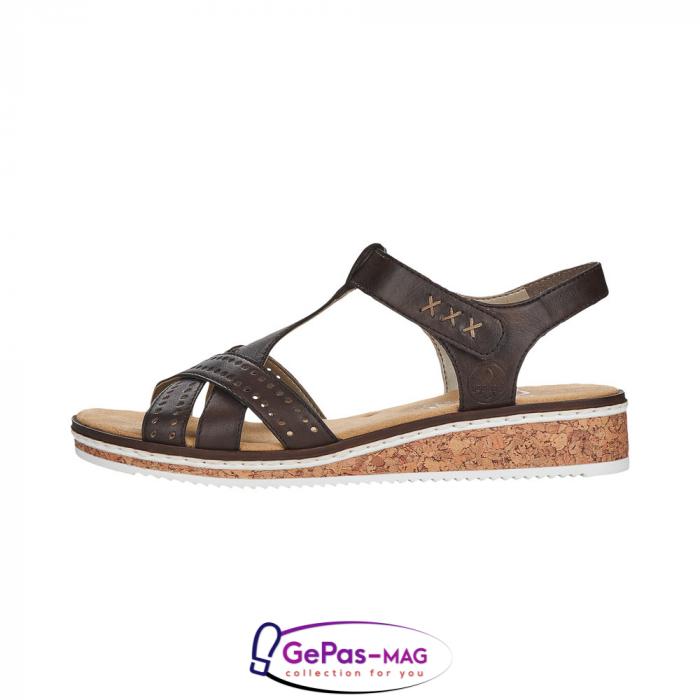Sandale casual dama, piele naturala, V3677-25 3