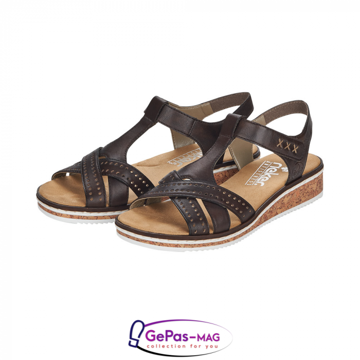 Sandale casual dama, piele naturala, V3677-25 6