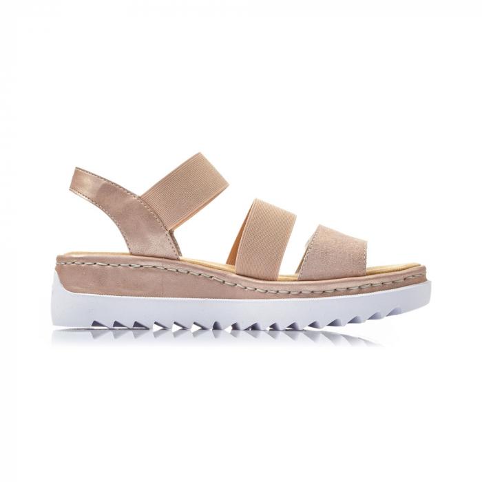 Sandale dama casual, piele naturala, RIK V4422-31 6