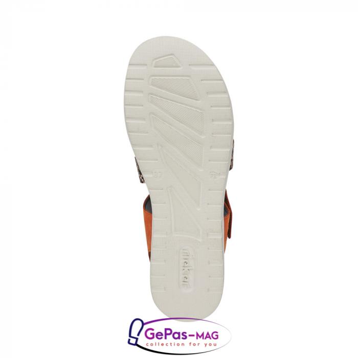 Sandale dama, piele naturala, multicolor, V5069-24 5