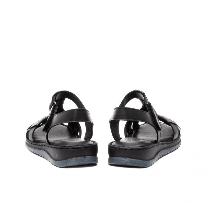 Sandale dama casual, piele naturala, Y2135 01-N 6