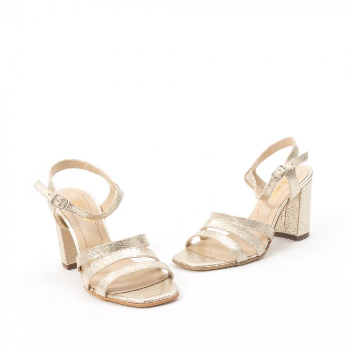 Sandale dama elegante piele naturala, Nike Invest 1080, auriu 1