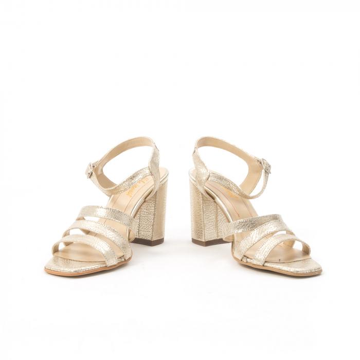 Sandale dama elegante piele naturala, Nike Invest 1080, auriu 2