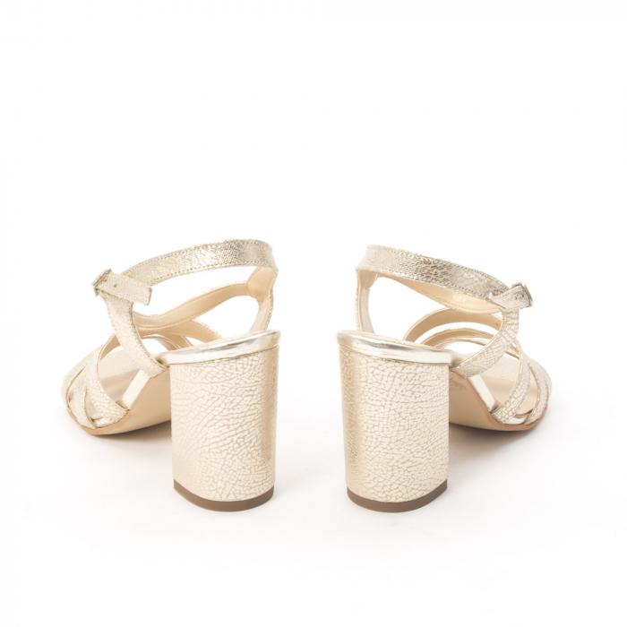 Sandale dama elegante piele naturala, Nike Invest 1080, auriu 3