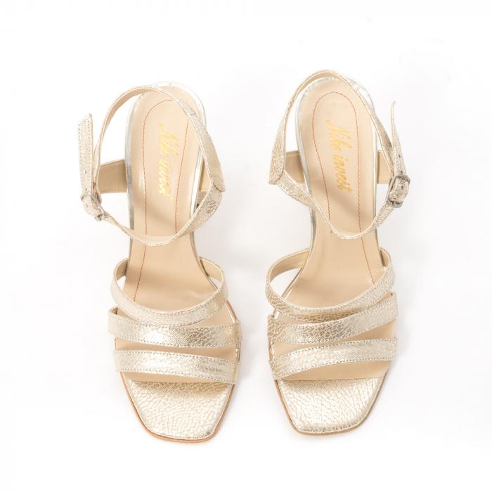Sandale dama elegante piele naturala, Nike Invest 1080, auriu 4