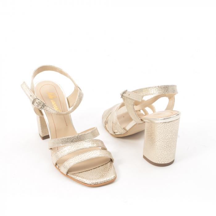 Sandale dama elegante piele naturala, Nike Invest 1080, auriu 5