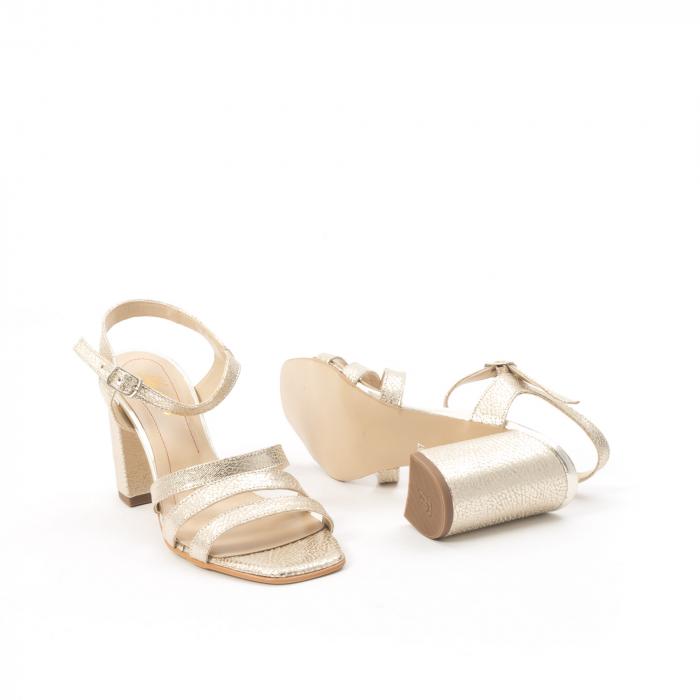 Sandale dama elegante piele naturala, Nike Invest 1080, auriu 6