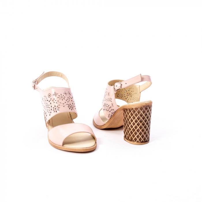 Sandale dama elegante, piele naturala, Nike Invest nk1094 B, nude [3]