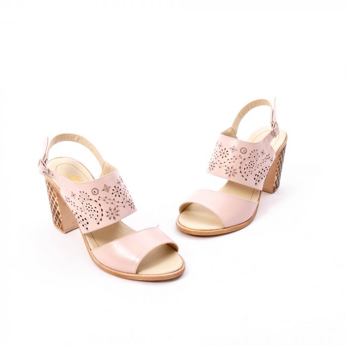 Sandale dama elegante, piele naturala, Nike Invest nk1094 B, nude [1]