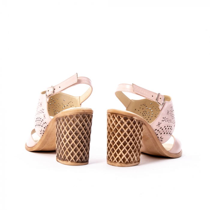 Sandale dama elegante, piele naturala, Nike Invest nk1094 B, nude [6]