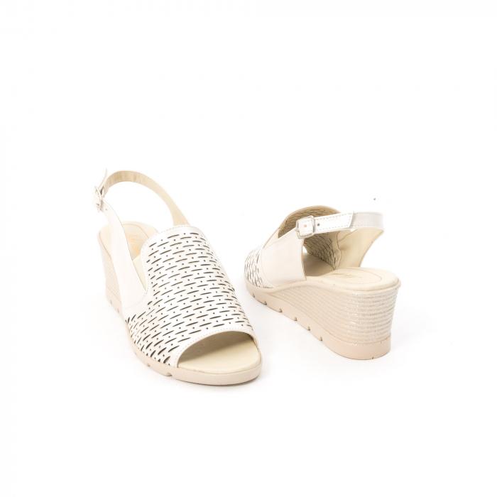 Sandale dama elegante piele naturala, Nike Invest 237B8, bej 2
