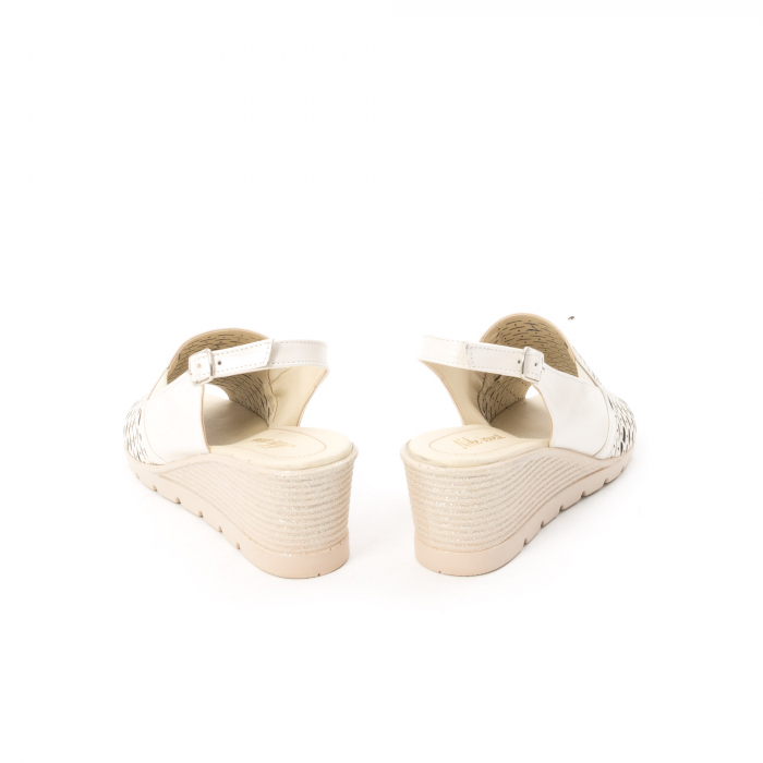 Sandale dama elegante piele naturala, Nike Invest 237B8, bej 6